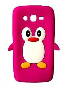 SKS Distribution® rose chaud Mignon Pingouin Manchot Etui Coque Housse Pour Samsung Galaxy Grand 2 G7102