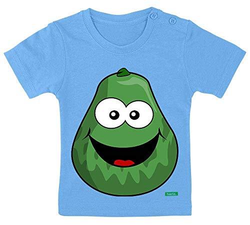 HARIZ Baby T-Shirt Avocado Lachend Früchte Sommer Inkl. Geschenk Karte Himmel Hell Blau 9-15 Monate / (Avocado Baby Kostüm)
