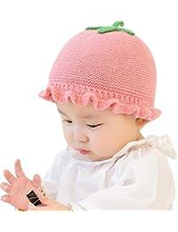 Mitlfuny Niños Niñas Sombreros de Punto de Bebé Invierno Caliente Casquillo  de Tomate Manual de Croché f778f8b3522