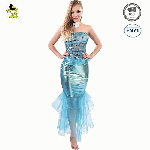 Schönheit Erwachsene Plus Für Kostüm - GAOGUAIG AA Erwachsene Sexy Sommerkleid 2018 Meerjungfrau Schwanz Halloween Kostüme Kostüm Romantische Schönheit Kleid Meer SD (Color : Onecolor, Size : Onesize)
