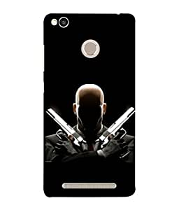 Fuson Designer Back Case Cover for Xiaomi Redmi 3s Prime :: Xiaomi Redmi 3 Plus (Dark Black Danger Shooter Spy Men Man Boys)