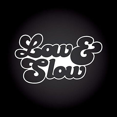 Low & Slow Aufkleber 15,0 cm x 8,5 cm JDM OEM Tuning Sticker Decal 30 Farben zur Auswahl (8,5 Aufkleber)