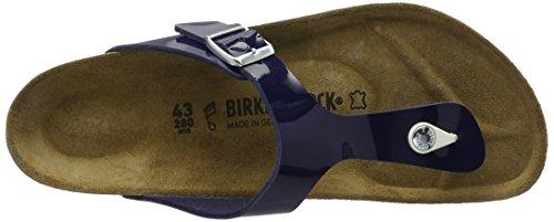 Birkenstock - Gizeh Birko-flor, Infradito Donna Blau (Dress Blue Lack)