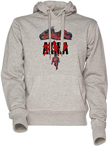 Akira - Akira Unisexo Hombre Mujer Sudadera con Capucha Gris Men's Wom