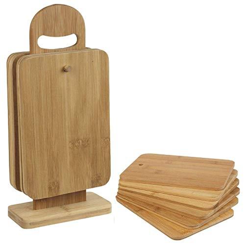 Top Home Solutions 7 piezas Tabla Picar Bamboo Juego