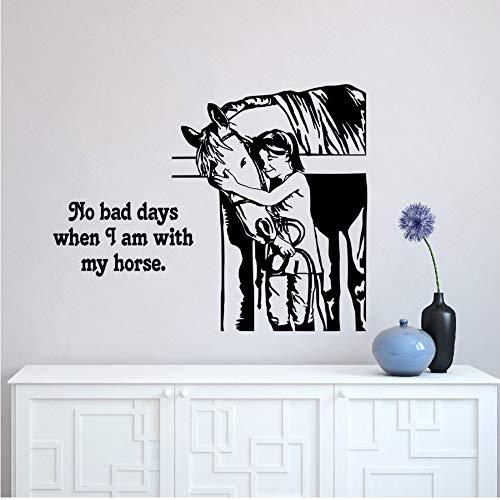 (Mhdxmp Kindergarten Pferd Zitat Wandtattoo Pferd Reiter Western Deisgn Dekoration Reiten Wandkunst Wand Fenster Wand Vinyl Poster 42 * 33 Cm)