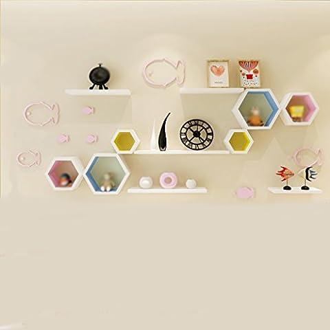 Stickers Etagere - Étagère murale White Board Creative Lattice et