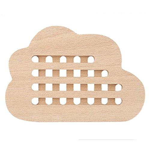 ZLR Kreativ rutschfest Buche-Wolke - geformte Isolierauflage Ganze Holz kein Lacköl - freies Küstenmotorschiff Japanisches Brot-Brett Hohles Frucht-Brett