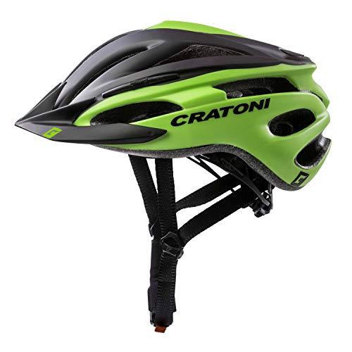 Cratoni Fahrradhelm Helm Pacer, Black-Lime Matt, Gr. S-M (54-58 cm)