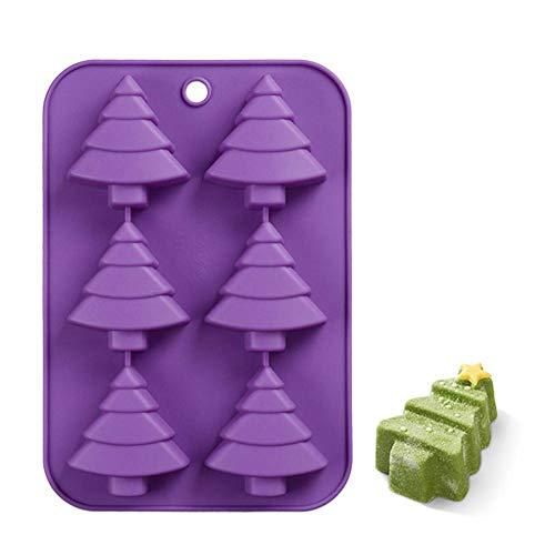 3D Weihnachten Backform, Silikon Süßigkeiten Form Keks Schokolade Pudding Seife DIY Form für Weihnachts Schmuck Party Supplies Hausgemachte Handwerk, Santa & Jingle Bells