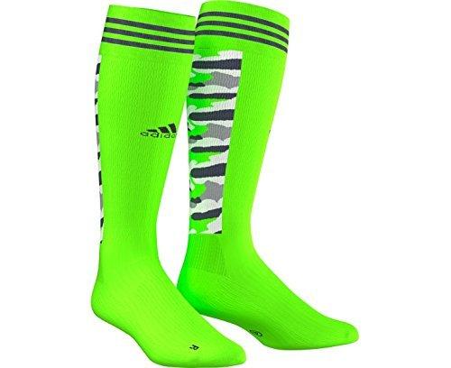 Adidas Hockey ID Socke XL grün - Solar Green (Camo Socken Grün)