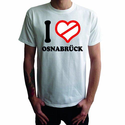 I don't love Osnabrück Herren T-Shirt Weiß