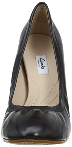 Clarks Grace Eva, Zapatos Con Tacón Mujer Negro (cuero Negro)