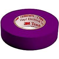 3M tvio1925 Temflex 1500 vinilo cinta aislante eléctrica, 19 mm x 25 m, 0,15 mm, púrpura [Paquete de 10]
