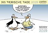 SEBBY 365 tierische Tage - Kalender 2019 - Lappan-Verlag - Andreas Brandt - Tagesabreißkalender mit tierischen Cartoons - 16 cm x 11 cm