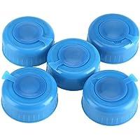 3 y 5 galones de tornillo en las tapas Anti-Splash botella de agua Snap On Cap Peel Off 5Pcs