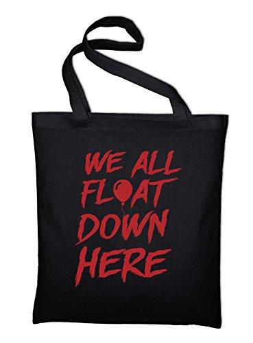 (Styletex23 #2 Es It, We All Float Down Here Fan Jutebeutel, schwarz)