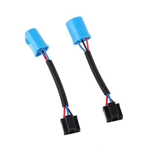 GZLMMY 9007 männlich zu H4 Buchse Erweiterung conversion Harness Adapter 9007 / H4 Umwandlung Draht für H2 Scheinwerfer (blau) (Hummer H2 1 10)