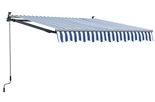 Grasekamp Markise 200x150cm Blau/Weiß Sonnensegel Sonnenschutz Jalousien