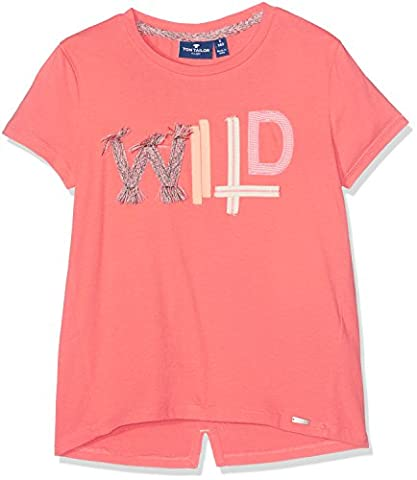TOM TAILOR Kids Mädchen T-Shirt Tee with Colourful Tapes, Rosa (Vivid Flamingo 5709), 164