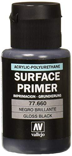 Acrylicos Vallejo 32ml metal color nero brillante-Primer