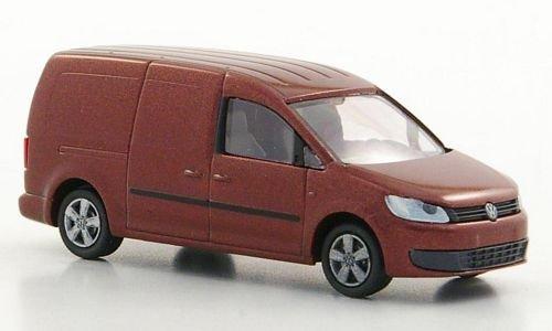 Preisvergleich Produktbild VW Caddy Maxi Kasten, met.-dkl.-rot, 2011, Modellauto, Fertigmodell, Rietze 1:87