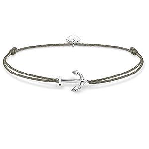 THOMAS SABO Damen Armband Little Secret Anker Anker Little Secret 925er Sterlingsilber, Nylon LS001-173-5