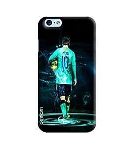 Omnam Lionel Messi Giving Back Pose Printed Designer Back Cover Case For Apple iPhone 6S Plus