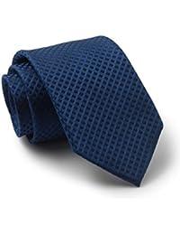 Savile Row Men's Navy Self Diamond Skinny Silk Tie