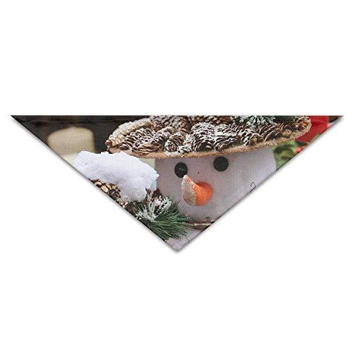 FGJGHKGH Halstuch, für den Winter, Blume, Weihnachten, Dessert, für Hunde und Katzen, dreieckig