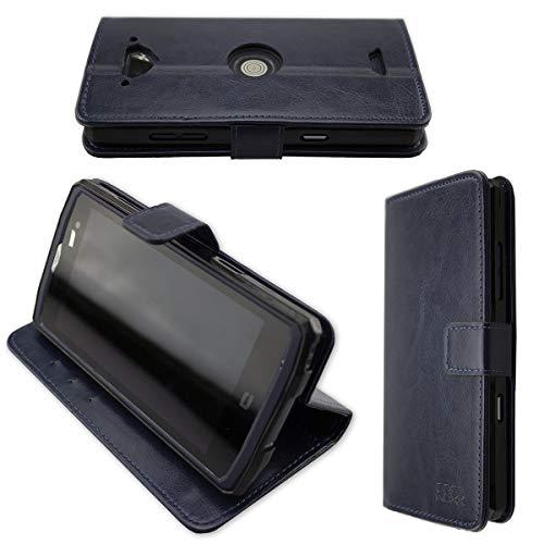 caseroxx Hülle/Tasche Bookstyle-Case Crosscall Core-X3 Handy-Tasche, Wallet-Case Klapptasche in blau