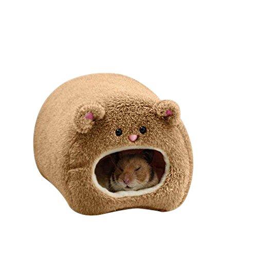 Dylandy Hamster Hamaca cálida Colgante Cama casa Nido Jaula Invierno Suave Peluche Hamaca Juguete para Animales pequeños Ardilla Erizo cobayo Cerdo 11 x 11 cm (Negro)