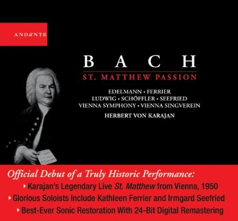 Bach - Passion selon Saint Matthieu - 3 CD + livret 152 pages (coll. Andante)