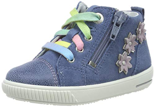 Superfit Baby Mädchen Moppy Sneaker, Blau 80, 24 EU -
