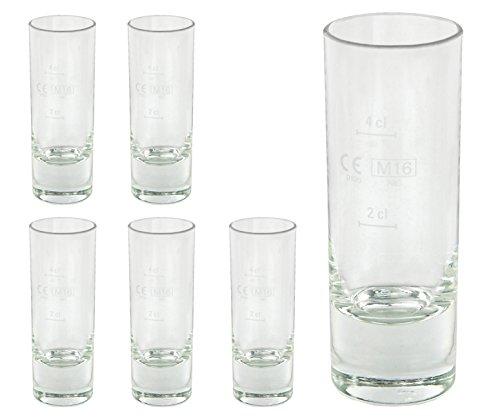 6 Islande Schnapsgläser Stamper Eisboden Schnaps Gläser Glas 6,5 cl 2 cl 4cl Geeicht