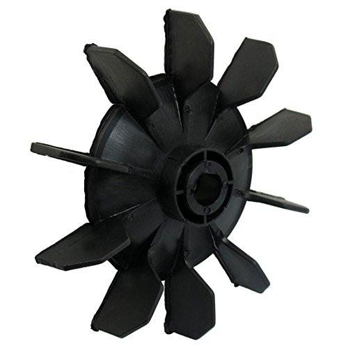 SODIAL(R) Dix aubes de pale de ventilateur ou de moteur Partie de compresseur d'air en plastique noir
