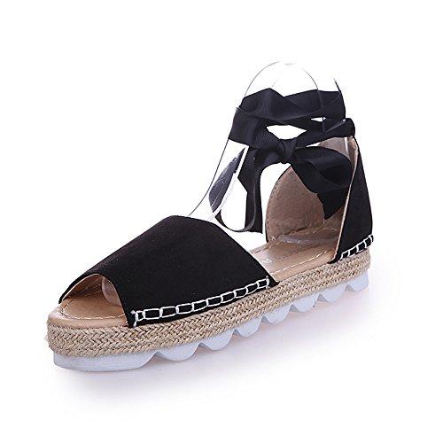 CXKS les Femmes D'Été Sandales Bandage Télévision Ruban de Chanvre Occasionnels Bretelles Croisées Sandales Chaussures Espadrilles