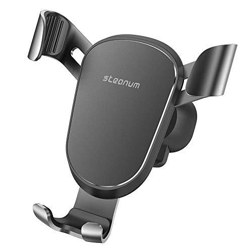 steanum Handyhalter fürs Auto, Metall Universal KFZ handyhalterung Auto lüftung Kompatibel für iPhone, Samsung, Huawei,Oneplus,HTC, LG und andere Smartphone-Schwarz