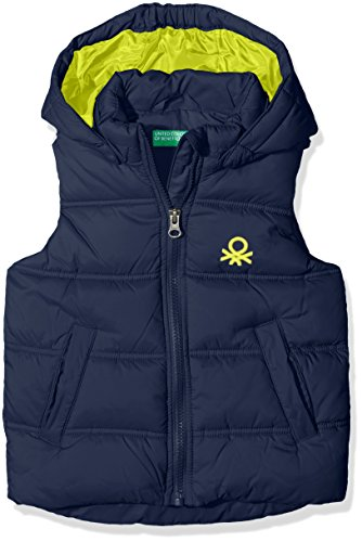 United Colors of Benetton 2WU05G050, Gilet Bambino, Blu (Navy), 3-4 Anni