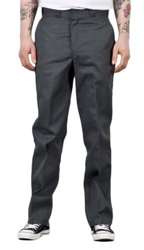 Dickies Herren Lange Hose Original 874 Work Grau Für ihn Männer Work Pant O-Dog (Flat Front Work Baumwolle Pants)