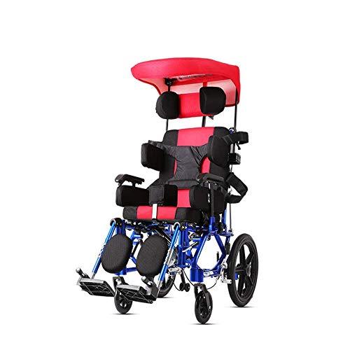 TWL LTD-Wheelchairs Multifunktions-Kinderrollstühle 26 Kg Ergonomisch Erweiterte Komfortable Armlehne Verstellbare Rückenlehnen Beine 100 Kg Tragkraft 36 * 36 cm Sitz Manueller Rollstuhl