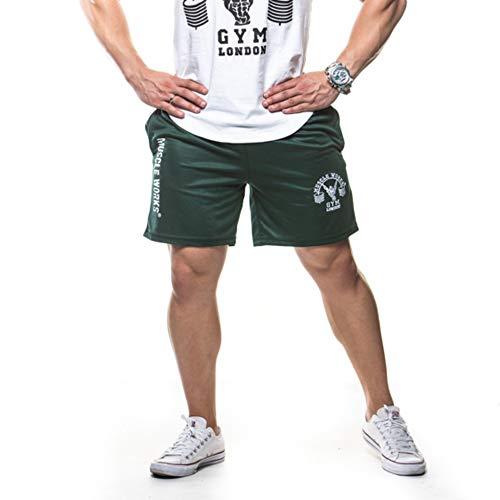 5bc537e36 Muscle Works Gym Mens Fitness Pantaloncini Mesh Airtex Formazione Boxe, MMA  Pantaloncini Verde, Green