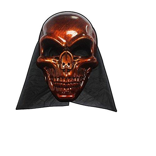 PromMask Masken Gesichtsmaske Gesichtsschutz Domino falsche Front Halloween Masken Requisiten Unheimlich monolithischer Teufel Maske T3
