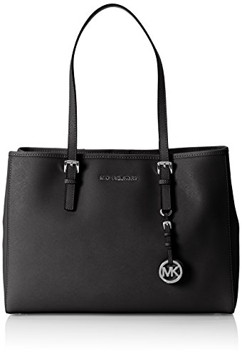 Michael Kors Damen Jet Set Travel Tote, Schwarz (Black) 16x26x37 centimeters (Michael Kors Geldbeutel Und Handtaschen)