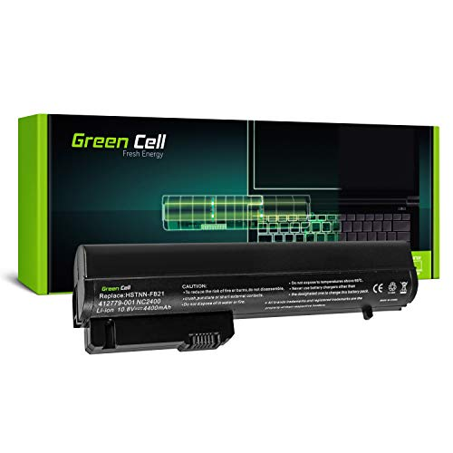 Green Cell Standard Serie MS06 MS06XL Laptop Akku für HP EliteBook 2530p 2540p | HP Compaq 2510p nc2400 nc2410 (6 Zellen 4400mAh 10.8V Schwarz)