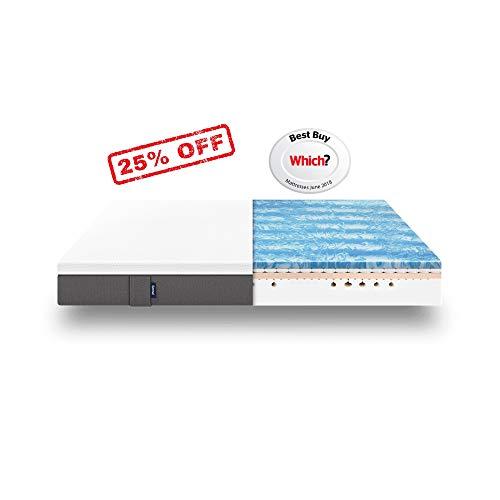 Emma Hybrid King Size Mattress 150x200 cm 25 cm high I Premium Visco-Elastic Memory Foam Mattress with Washable Cover I 100 Nights trial I 10 years warranty