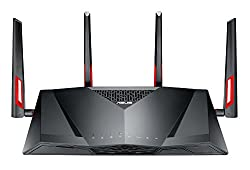 Asus 114563 Dsl-ac88u Ac3100 Wi-fi Gigabit Modem Router, G.fastvplus 35bvdslfibreadsl 2+, Vdsl2, Usb 3.0 For Phone Line Connections (Bt Infinity, Youview, Talktalk, Ee & Plusnet Fibre) - Black