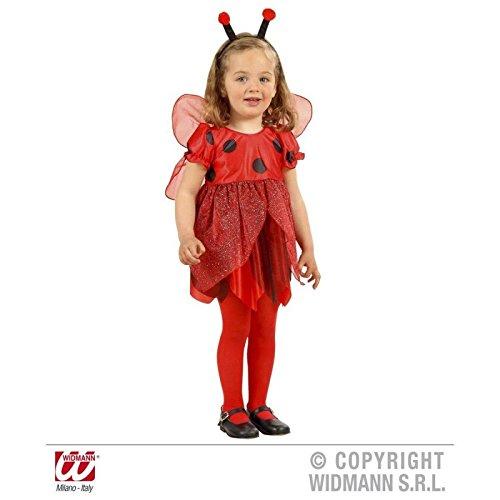 Kostüm Super Süße - Super süßes rot-schwarzes Marienkäfer - Kostüm für Kinder ( Kleid und Flügel ) Gr. 104 cm ( 2 - 3 Jahre )