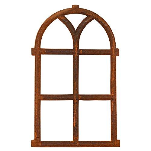 Nostalgie Stallfenster 68x40cm Fenster Gusseisen Eisen Rahmen Rost Antik-Stil