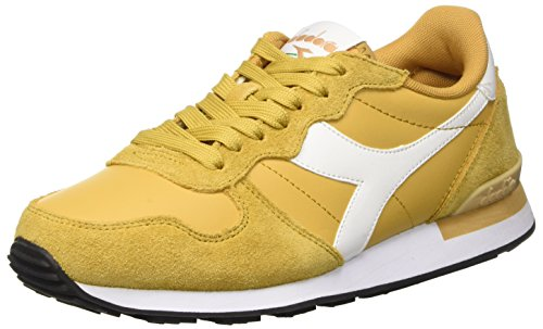 Diadora Camaro Leather, Scarpe Low-Top Uomo, Beige (Beige Farro/Bianco), 41 EU